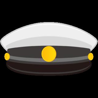 商用フリー・無料イラスト_白い学制帽_Student cap_gakusei002