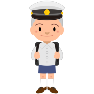 商用フリー・無料イラスト_白い学制帽をかぶったぼうず頭の男の子_otokonoko003