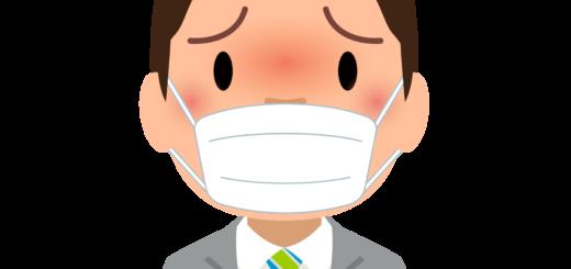 商用フリー・無料イラスト_マスクをしている男性_sick001