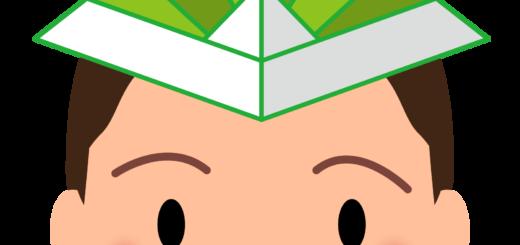 商用フリー・無料イラスト_5月端午の節句_緑色の紙のかぶとをかぶる男の子_tangonosekku61