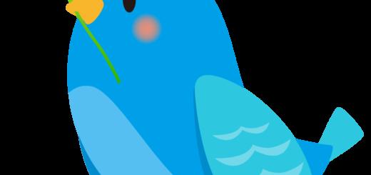 商用フリー・無料イラスト_幸せの青い鳥のイラスト_Happy blue bird002