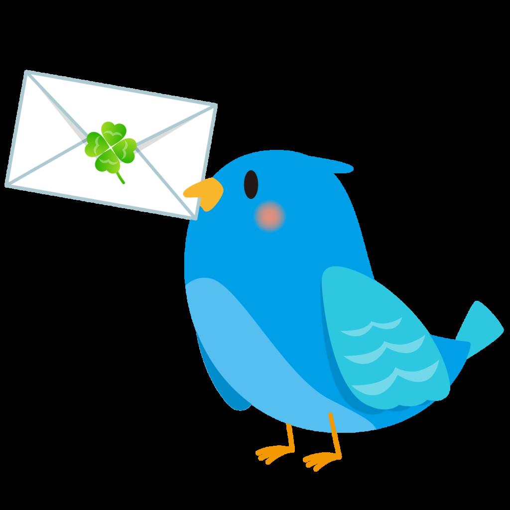 商用フリー・無料イラスト_幸せの青い鳥のイラスト_Happy blue bird005