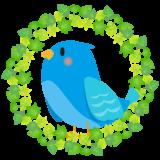 商用フリー・無料イラスト_幸せの青い鳥のイラスト_Happy blue bird007