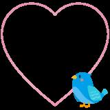 商用フリー・無料イラスト_幸せの青い鳥のイラスト_Happy blue bird009