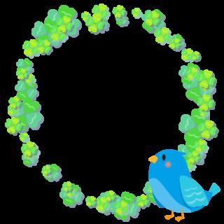 商用フリー・無料イラスト_幸せの青い鳥のイラスト_Happy blue bird010