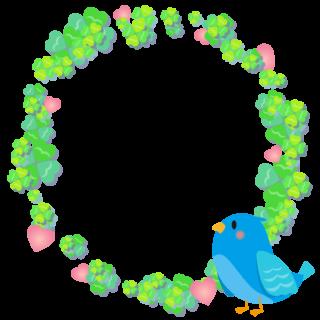 商用フリー・無料イラスト_幸せの青い鳥のイラスト_Happy blue bird011