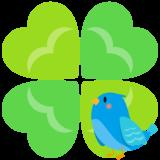 商用フリー・無料イラスト_幸せの青い鳥のイラスト_Happy blue bird012