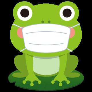 商用フリー・無料イラスト_マスクをしたかえるのイラスト_frog007