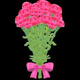 商用フリー・無料イラスト_5月母の日_カーネーションの花束_mothersday014