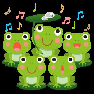 商用フリー・無料イラスト_かえるの合唱のイラスト_frog011