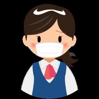 商用フリー・無料イラスト_マスクをしている女性_sick008