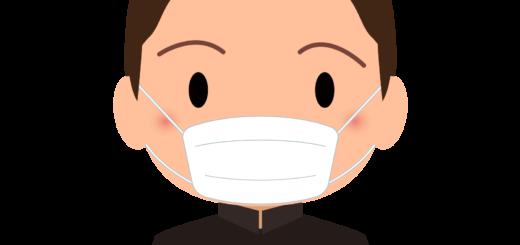 商用フリー・無料イラスト_マスクをしている学生服の男の子_sick014