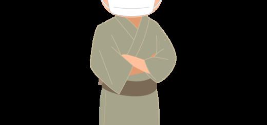 商用フリー・無料イラスト_マスクをしているシニア男性_sick017