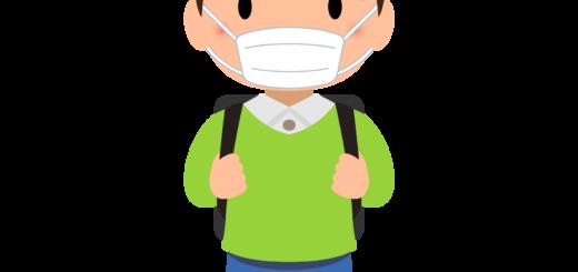 商用フリー・無料イラスト_マスクをしている小学生の男の子_sick020