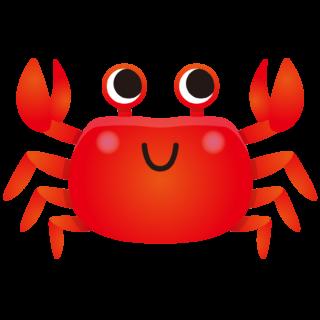 商用フリー・無料イラスト_赤いかに(蟹)のイラスト_crab001