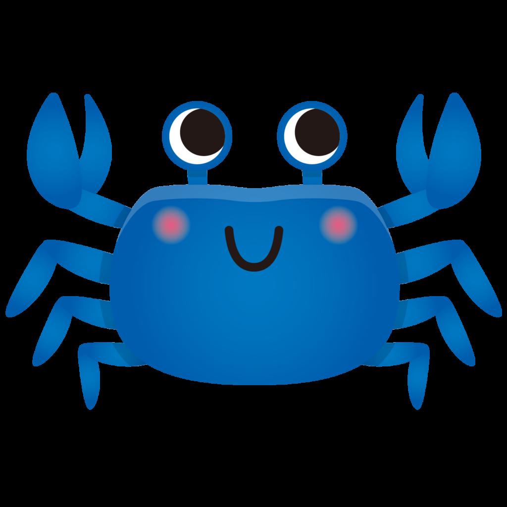 商用フリー・無料イラスト_青いかに(蟹)のイラスト_crab002