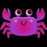 商用フリー・無料イラスト_紫色のかに(蟹)のイラスト_crab003