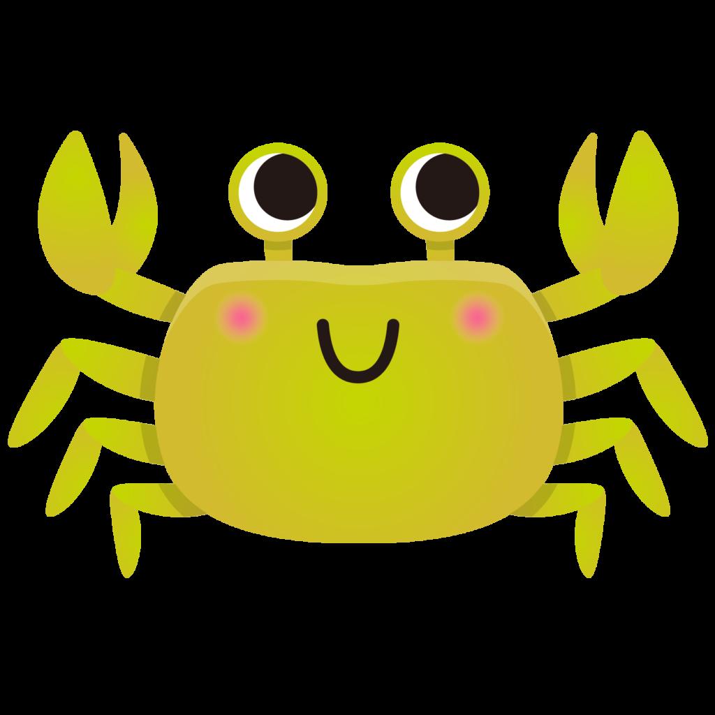 商用フリー・無料イラスト_黄色いかに(蟹)のイラスト_crab001