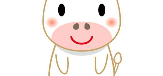 商用フリー・無料イラスト_干支_丑年(牛・うしどし)_ushi023