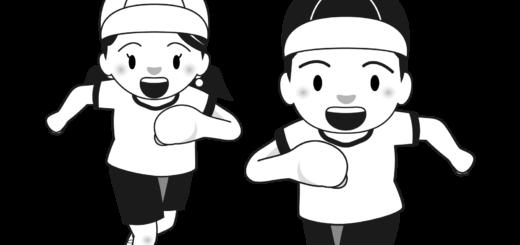 商用フリー・無料イラスト_スポーツの日のイラスト_白黒モノクロ_SportsDay011