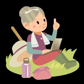 商用フリー・無料イラスト_農業・農家シニア女性nogyo020