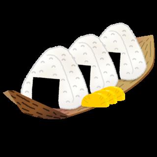 商用フリー無料イラスト_竹の皮で包んだおにぎり・おむすび_onigiri018