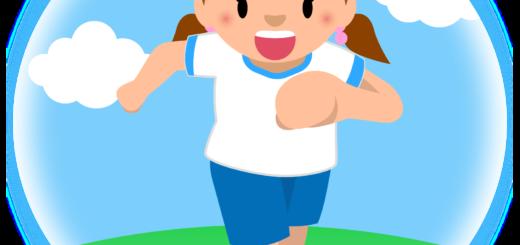 商用フリー・無料イラスト_体操服でかけっこをする女の子_onnanoko004
