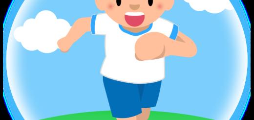 商用フリー・無料イラスト_体操服でかけっこをする女の子_onnanoko005