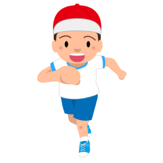 商用フリー・無料イラスト_体操服でかけっこをする男の子_otokonoko006