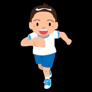 商用フリー・無料イラスト_体操服でかけっこをする男の子_otokonoko007