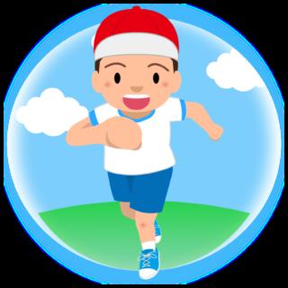 商用フリー・無料イラスト_体操服でかけっこをする男の子_otokonoko008