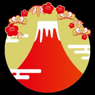 商用フリー・無料イラスト_富士山のイラスト_赤富士_FujiMountain001