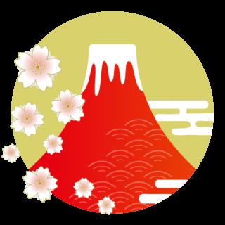 商用フリー・無料イラスト_富士山のイラスト_赤富士_FujiMountain005
