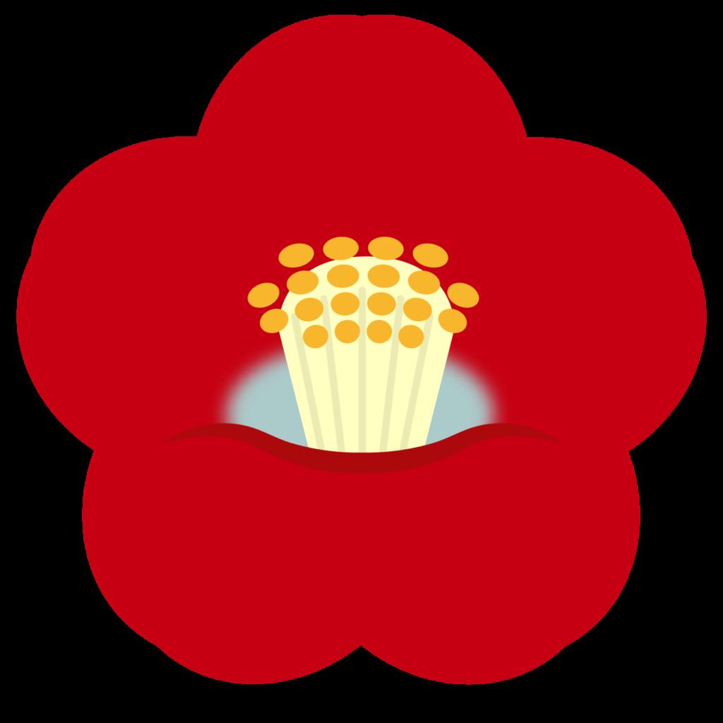 商用フリー・無料イラスト_赤い椿(つばき)の花のイラスト_tsubaki001
