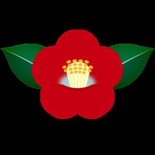 商用フリー・無料イラスト_赤い椿(つばき)の花のイラスト_tsubaki008