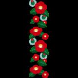 商用フリー・無料イラスト_赤い椿(つばき)の花のパターン_tsubaki015