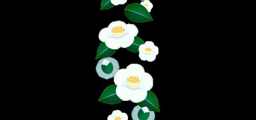 商用フリー・無料イラスト_白い椿(つばき)の花のパターン_tsubaki016