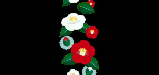 商用フリー・無料イラスト_紅白椿(つばき)の花のパターン_tsubaki017