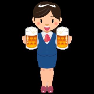商用フリーイラスト_無料_10月_オクトーバーフェスト_ビールを持つ女性OL_Oktoberfest_022
