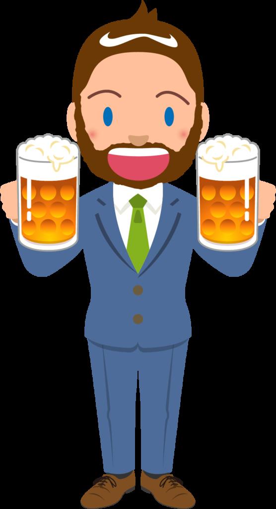 商用フリーイラスト_無料_10月_オクトーバーフェスト_ビールを持つスーツの外人男性_Oktoberfest_024
