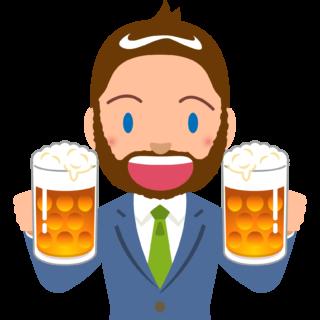 商用フリーイラスト_無料_10月_オクトーバーフェスト_ビールを持つスーツの外人男性_Oktoberfest_030