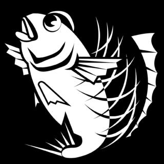 商用フリー・無料イラスト_縁起物_モノクロの鯛イラスト(白黒タイ)019