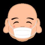 商用フリー・無料イラスト_七福神_マスクをした布袋尊の顔イラスト(ほていそん/hoteison)_shichifukujin040