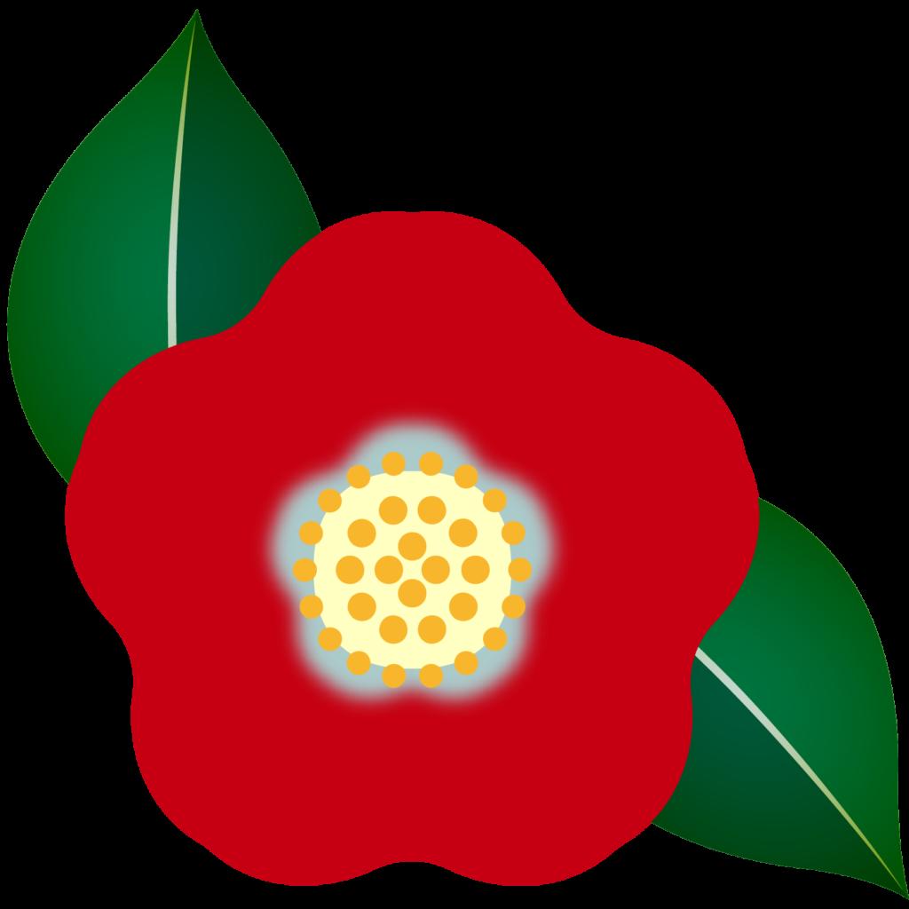 商用フリー・無料イラスト_赤い椿(つばき)の花のイラスト_tsubaki021