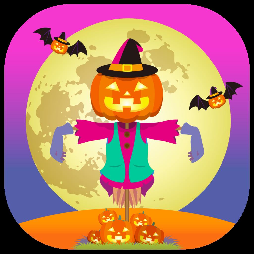 商用フリーイラスト_無料_10月_ハロウィン_ジャックオーランタンのかかし_Scarecrow_halloween103