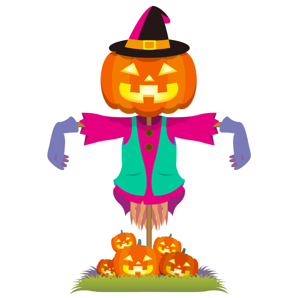 商用フリーイラスト_無料_10月_ハロウィン_ジャックオーランタンのかかし_Scarecrow_halloween104