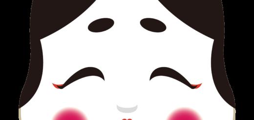 商用フリー・無料イラスト_おかめ(おたふく)_OkameOtafuku001