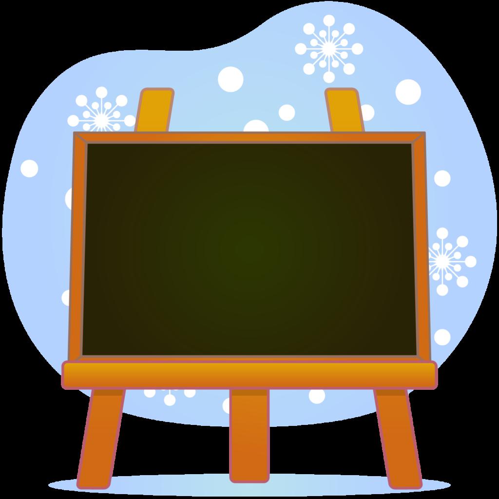 商用フリー・無料イラスト_クリスマス_イーゼル・キャンバスMerryChristmasEasel,Canvas_007