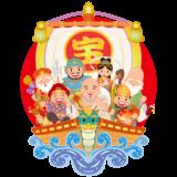 商用フリー・無料イラスト_七福神の宝船のイラスト(takarabune)_shichifukujin049