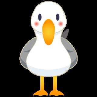 商用フリー・無料イラスト_カモメのイラスト_Seagull Illustration001